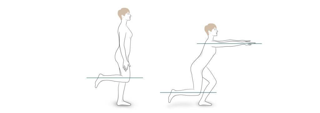 Übung 4: Ein-Bein-Beuge