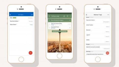 3 To-do-Listen Apps im Vergleich