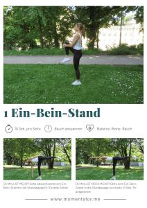 Home Workout: Ein-Bein-Stand Übung
