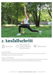 Home Workout: Ausfallschritt Übung
