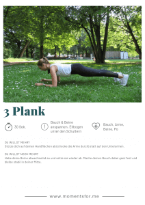 Home Workout: Plank Übung