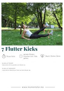 Home Workout: Flutter Kicks Übung